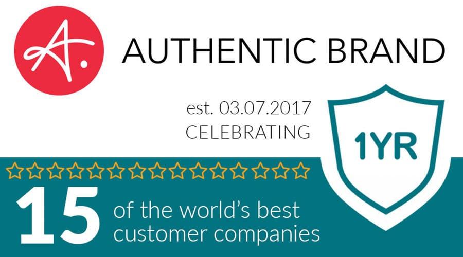 Celebrating Authentic Brand's 1-Year Bizversary!