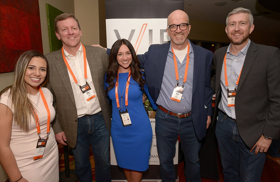 Jennifer Zick and KeyStone Executive Search Team at V/IP Event