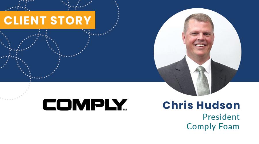 Chris Hudson Comply Foam Client Story