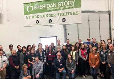 We packed 2,154 bags of food for local children and families