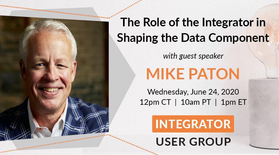 Mike Paton - Integrator User Group