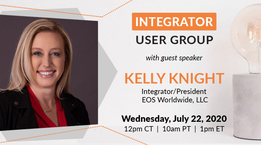 Guest speaker, Kelly Knight - President & Integrator of EOS Worldwide,   LLC - encouraged integrators to look for opportunities to grow in grace during times of immense pressure, after which participants moved into small group virtual breakout rooms which were facilitated by Professional and Certified EOS Implementers®.