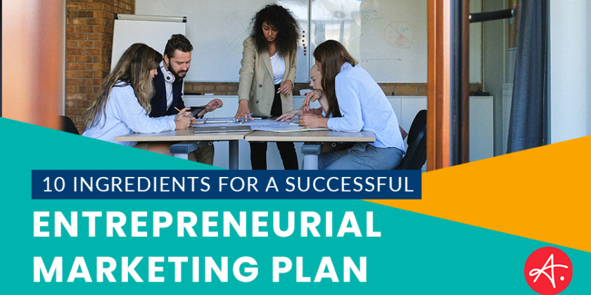 What should growing businesses include in their entrepreneurial marketing plan?